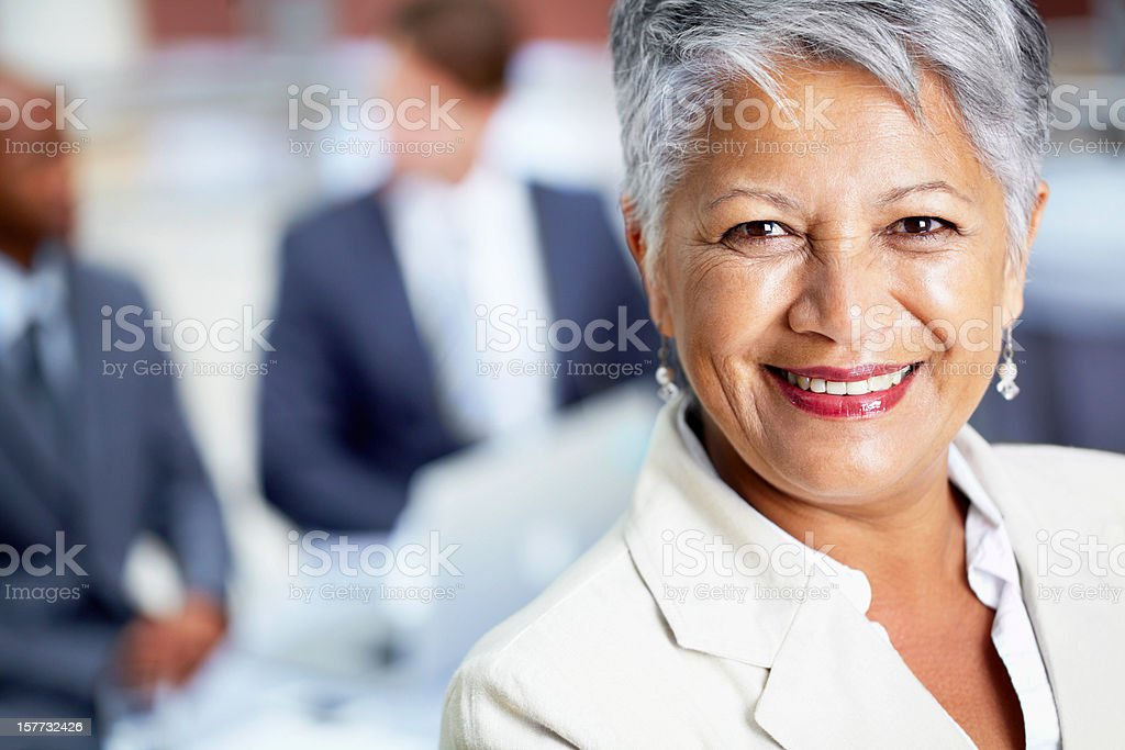 Closeup and personal with the boss royalty-free stock photo