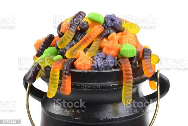 Closeup assorted halloween candy in black cauldron picture id853343012?b=1&k=6&m=853343012&s=612x612&h=8mym4fcooevnfx6vpfmlz4m qfr0rdpl6r5i3nh9gii=