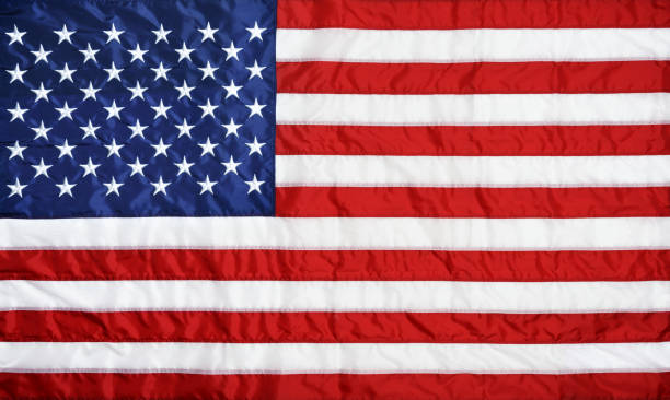 Closeup background of American flag stock photo