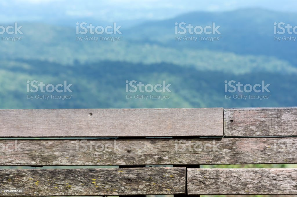 Close-up Backrest in the Mountain View in Thailand. Popular holiday destinations in the winter. stock photo