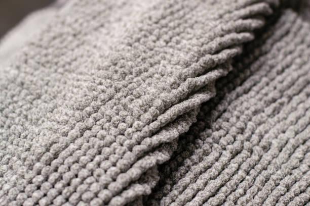 Closeup Bath Rug. Textured Background Mat Horizontal stock photo