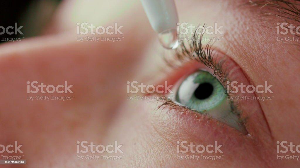 Close-up schöne blaue Augen – Foto