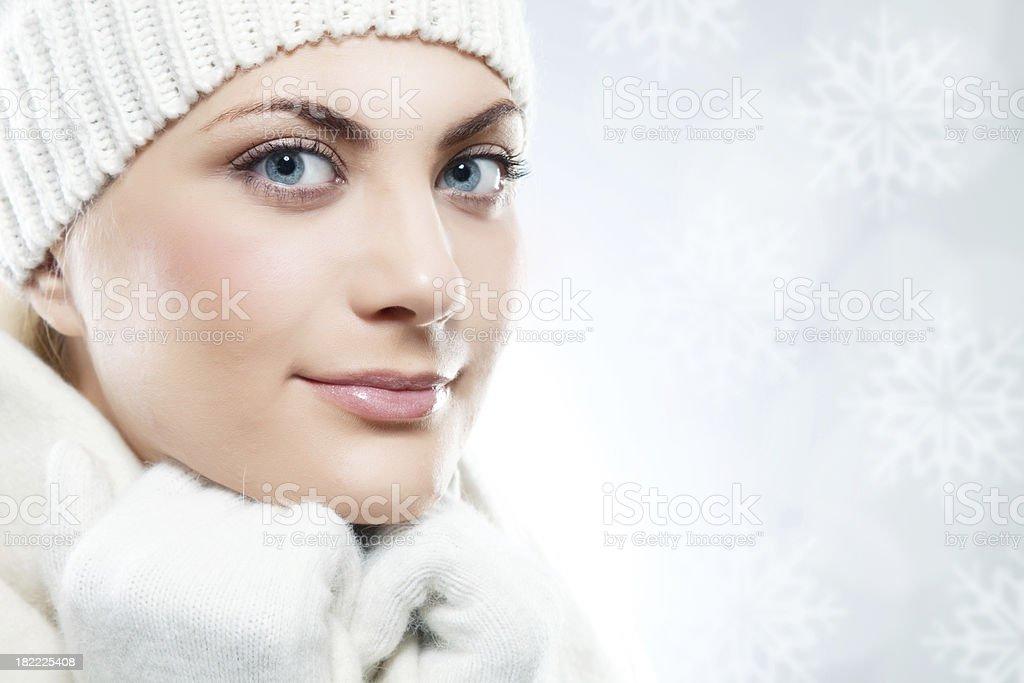 nouveaux produits chauds dernier style Los Angeles Photo libre de droit de Gros Plan De Beau Visage De Femme ...