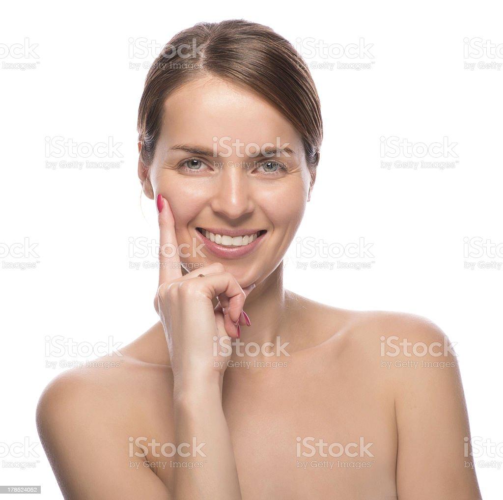 closeup beauty shot of attractive woman royalty-free stock photo