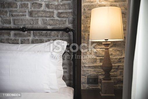 istock closeup bed head 1133286324