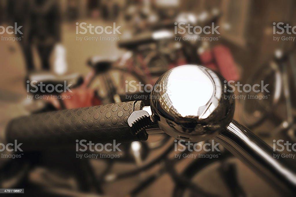 Close-up de mensageiro de bicicleta - foto de acervo