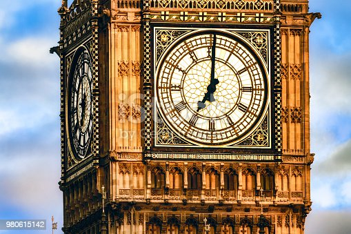 7 o'clock Clock Tower, Westminster Palace, London