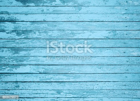 istock Close-up blue painted board texture 653429072