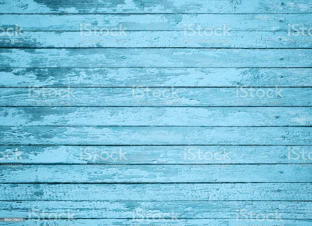 Close-up blue painted board texture stock photo