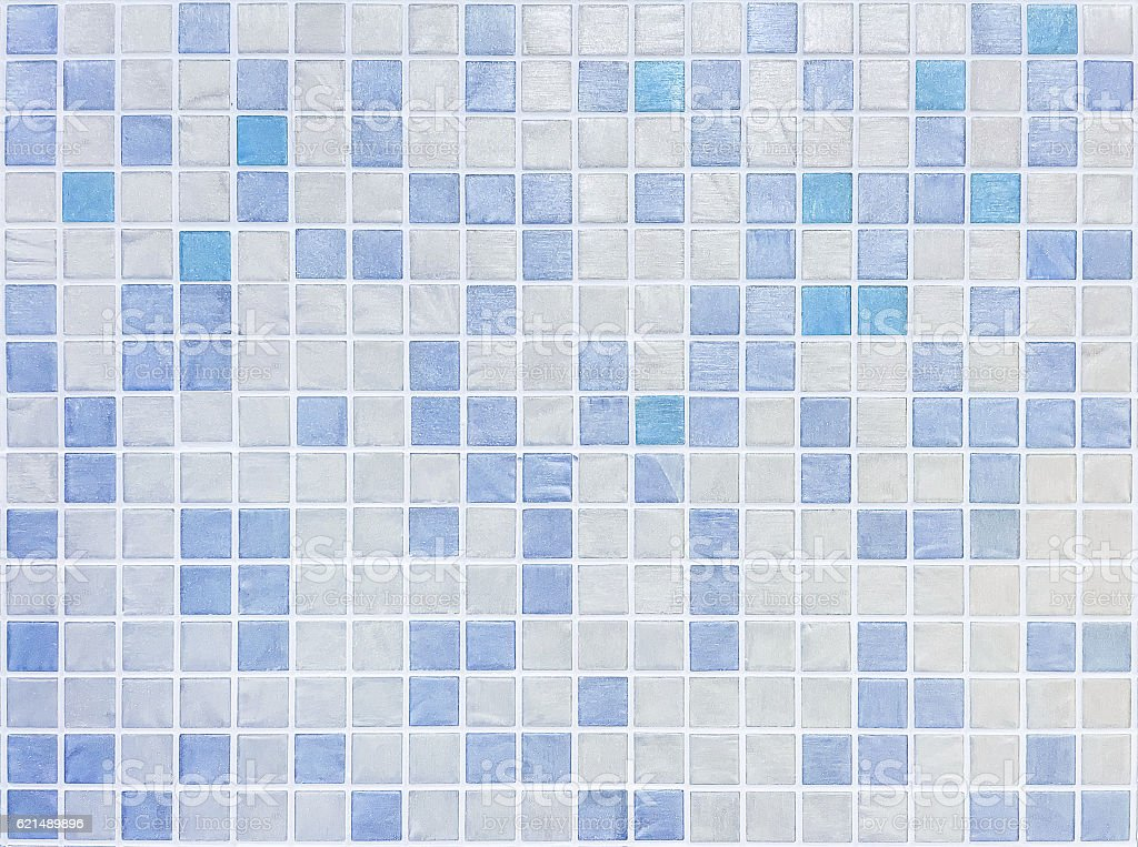 Closeup blue tiles in bathroom wall texture background photo libre de droits