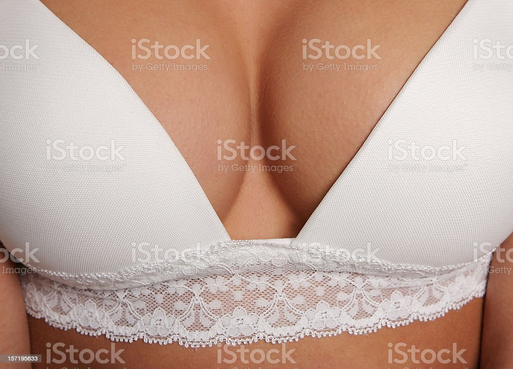 Close-up Bra and Breasts stock photo