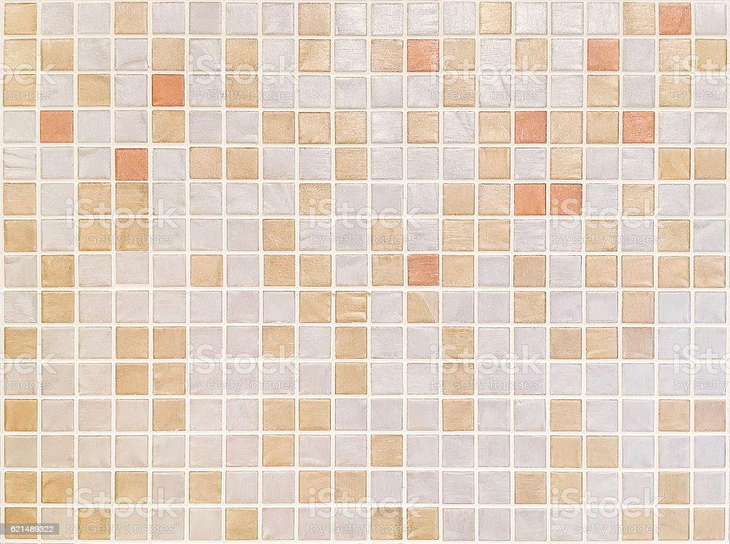 Closeup brown tiles in bathroom wall texture background photo libre de droits