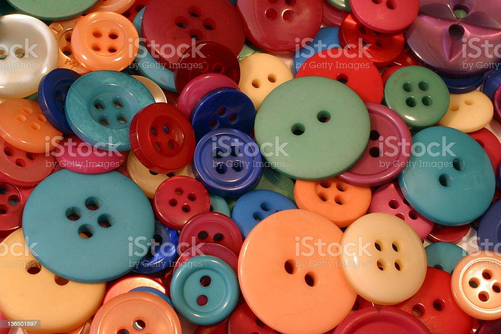 Closeup Buttons stock photo