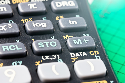istock Close-up calculator keyboard, cropped 876926874