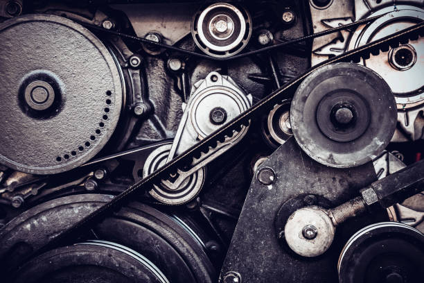 close-up car engine, internal combustion engine. close-up car engine, internal combustion engine. coupling device stock pictures, royalty-free photos & images