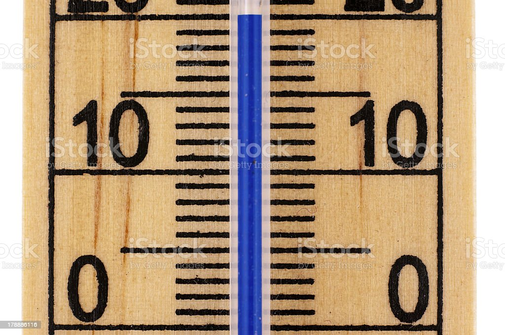 Close-up celcius Mercury room thermometer royalty-free stock photo
