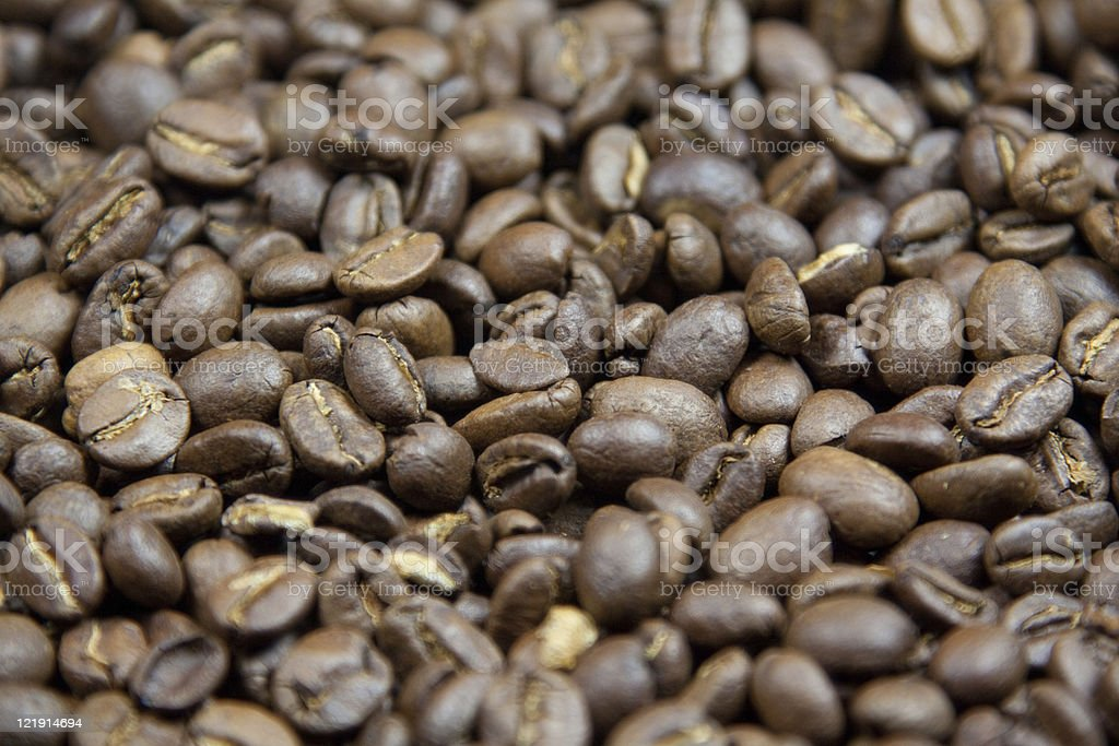 Close-Up Coffee Bean Background stock photo