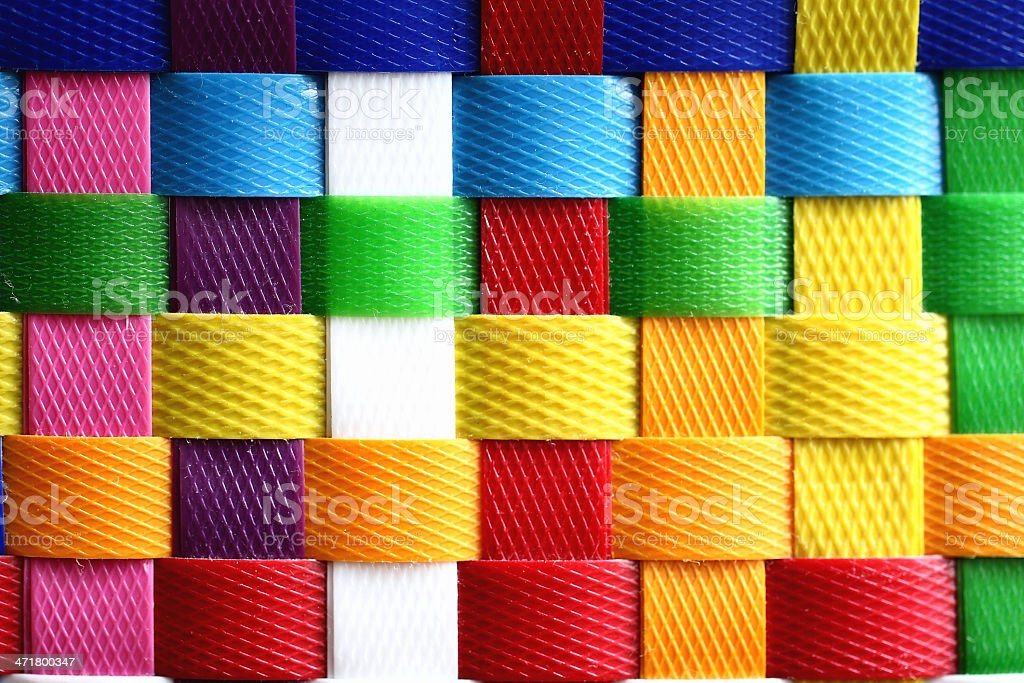 Close-up Colorful basket. Texture Background royalty-free stock photo