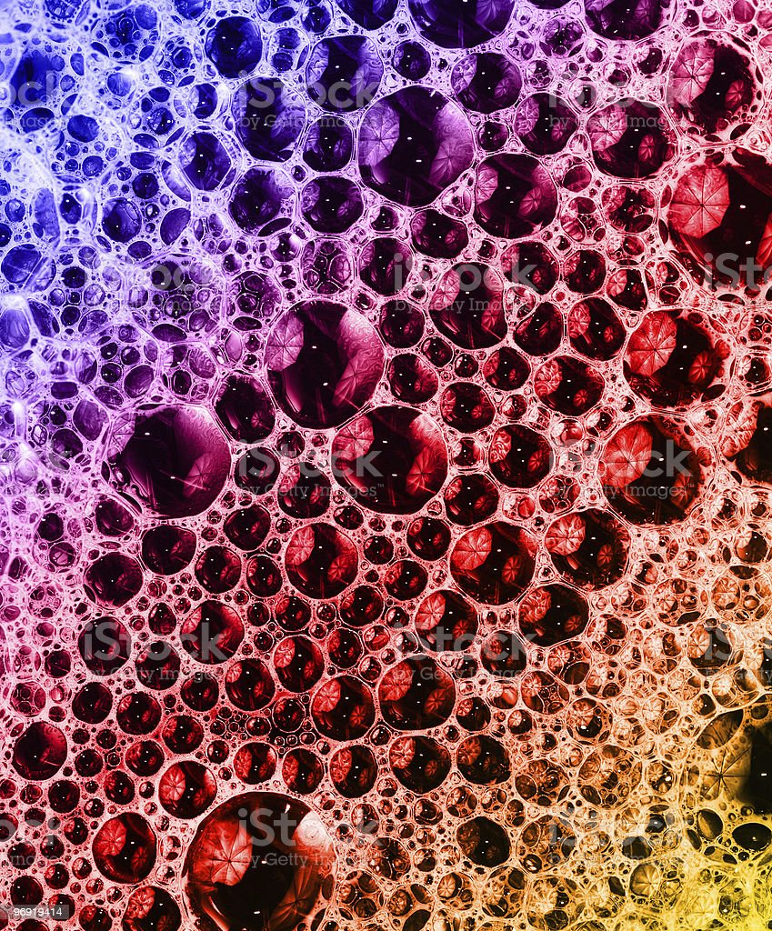 close-up colorful foam background royalty-free stock photo