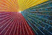 Close-up Colorful umbrellas background