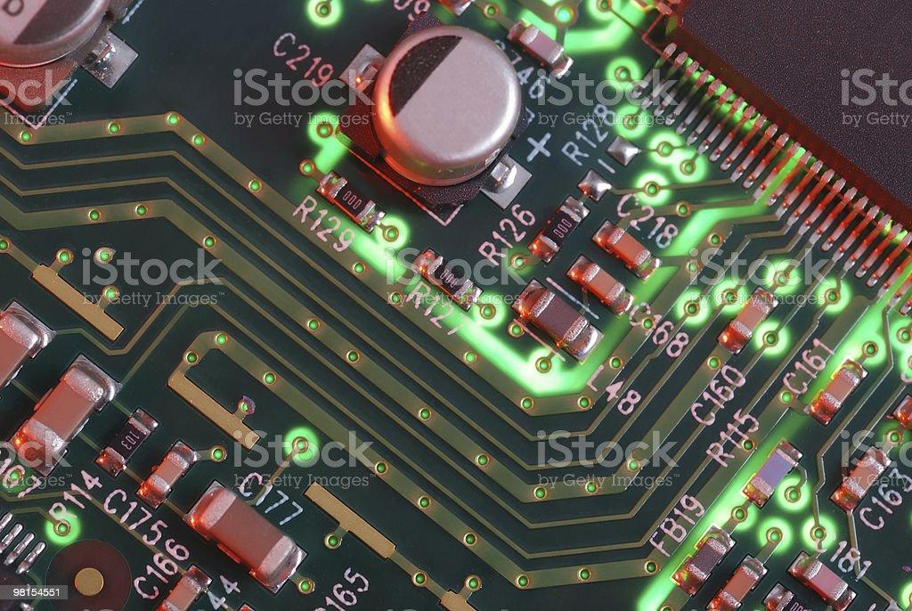 Closeup Computer Circuit Board royalty-free stock photo