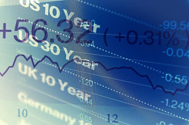 Nahaufnahme computer-Bildschirm mit trading-Fenster. – Foto