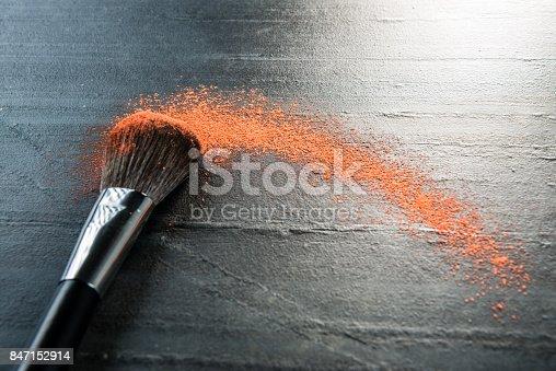 istock closeup cosmetic brush tool using makeup 847152914