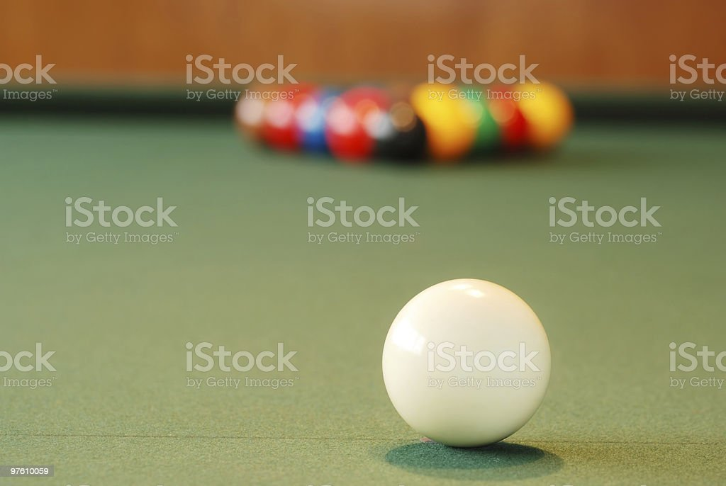 closeup cue ball royalty-free stock photo
