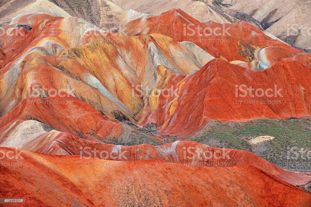 Close-up Danxia Landform stock photo