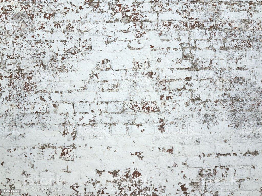Close-up dark brick grunge white red old wall texture background stock photo