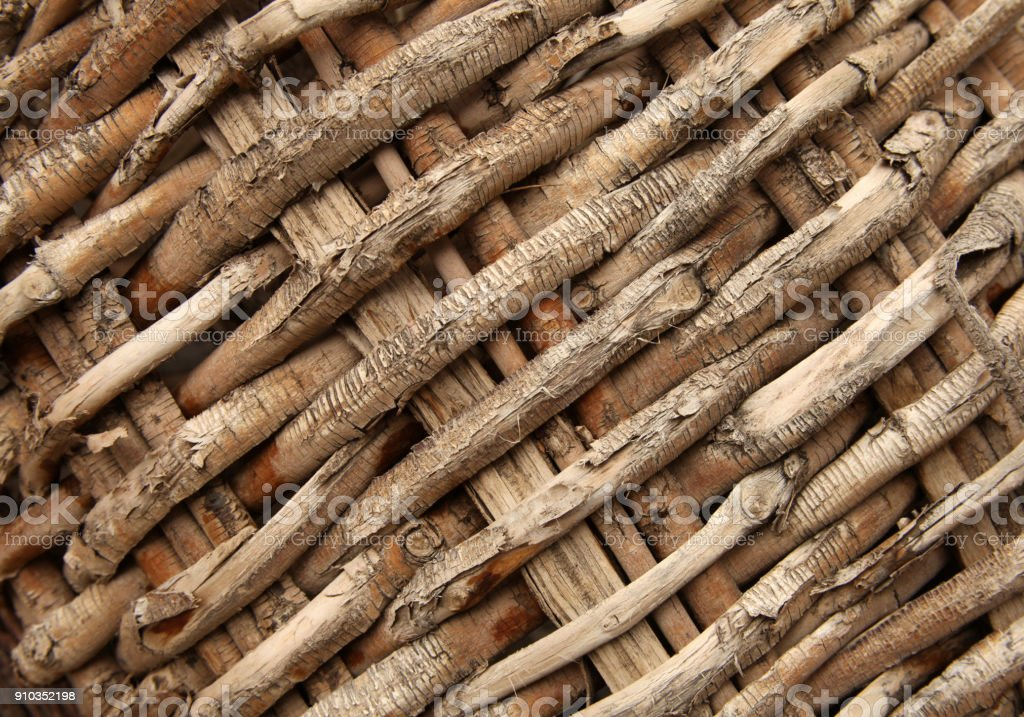 Close-up detail of a basket stock photo