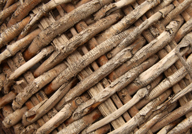 close-up detail of a basket - intricacy stock pictures, royalty-free photos & images