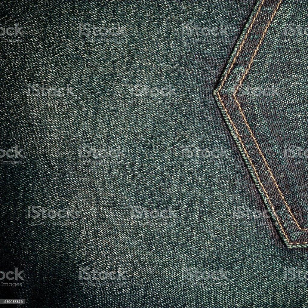 closeup detail of blue denim pocket royalty-free stock photo