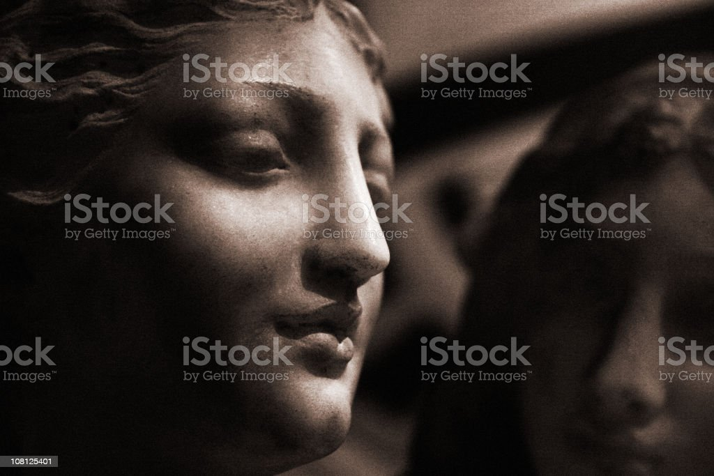 Close-up Detail of Classic Marble Statue stock photo