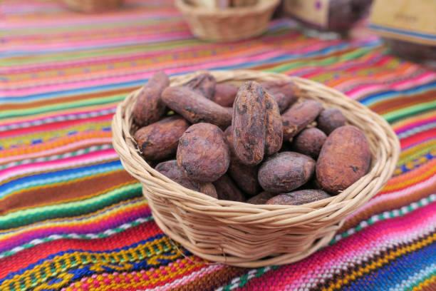 干可哥豆的特寫細節。圖像檔