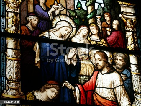 istock Close-up detail of stained glass window 139694928