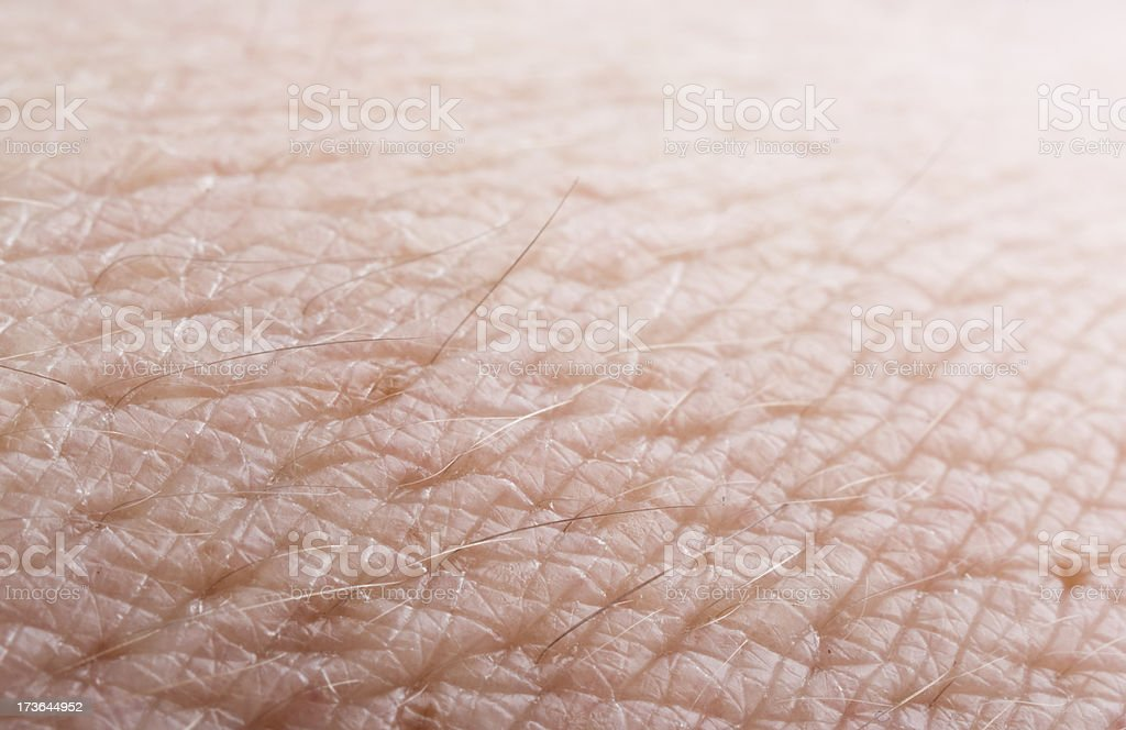 Close-up detail photo of human skin stock photo