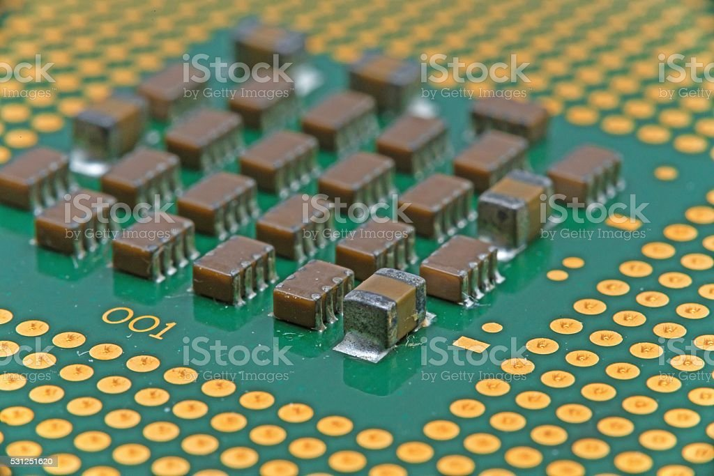 closeup details of Central Processing Unit stock photo