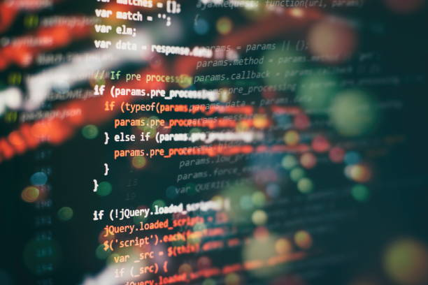 Closeup developing programming and coding technologies. Developer working on web sites codes in office. Programming source code HTML for Website development. Server logs analysis. broadcast programming stock pictures, royalty-free photos & images