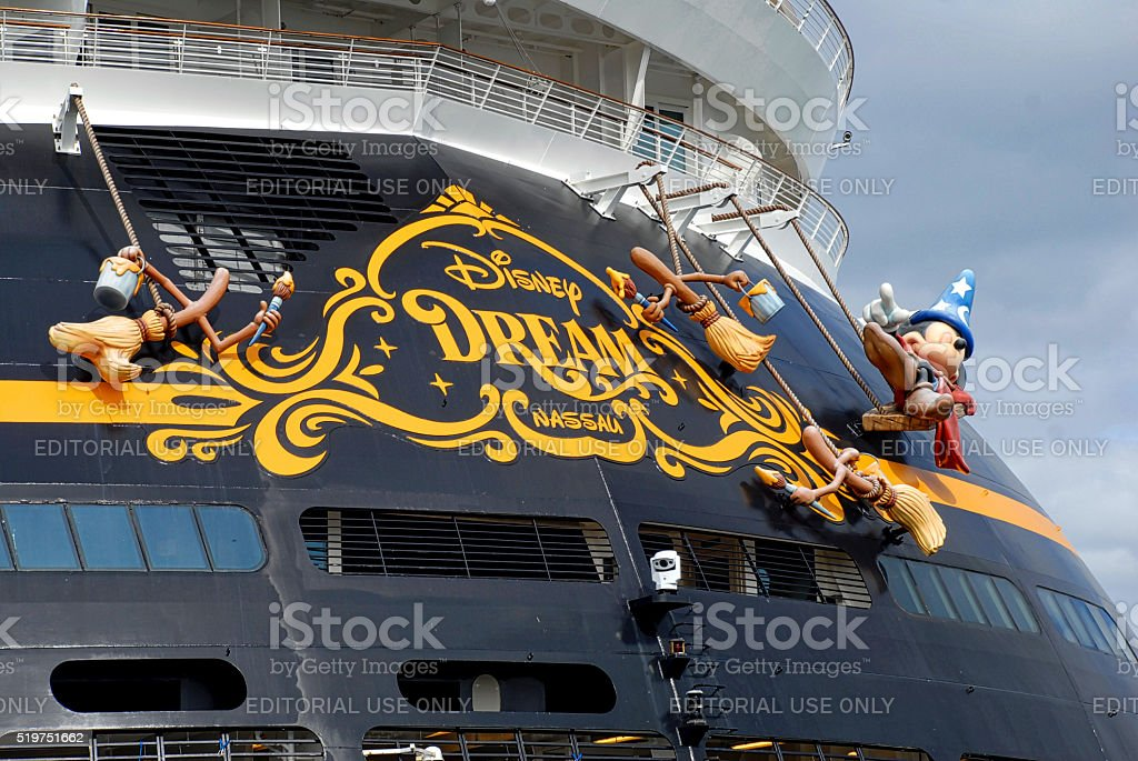 Close-up, Disney Dream Sterm stock photo