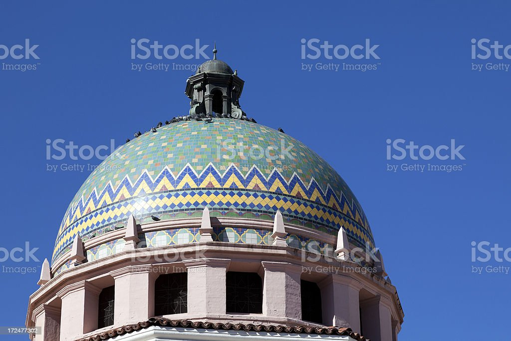 Closeup dome view of Pima County Courthouse royalty-free stock photo