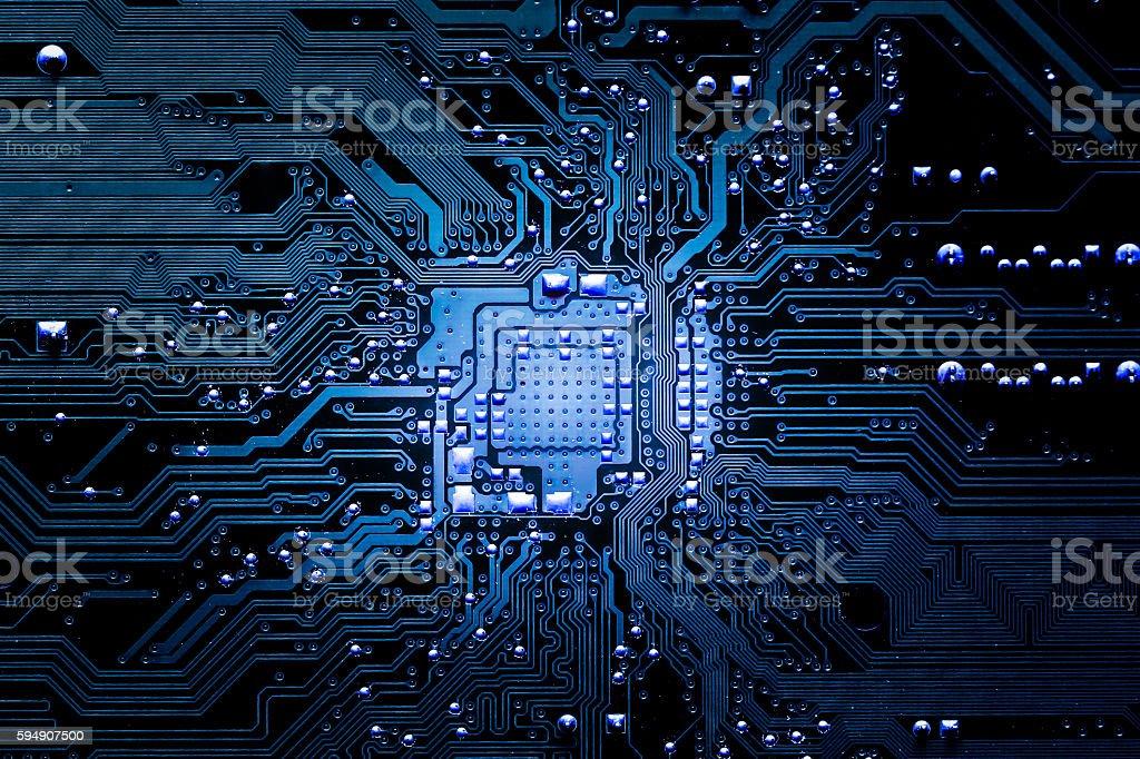 Closeup electronic circuit board ロイヤリティフリーストックフォト