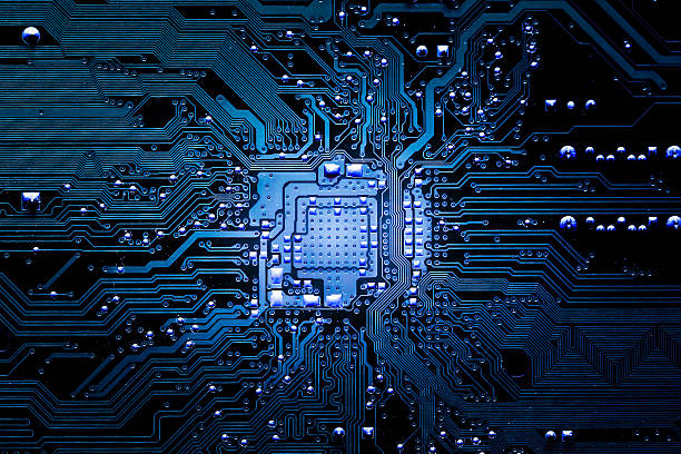Closeup electronic circuit board Closeup electronic circuit board background. computer chip stock pictures, royalty-free photos & images