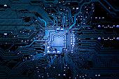 Closeup electronic circuit board