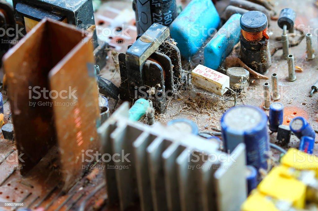 Closeup electronic circuit board royalty-free stock photo