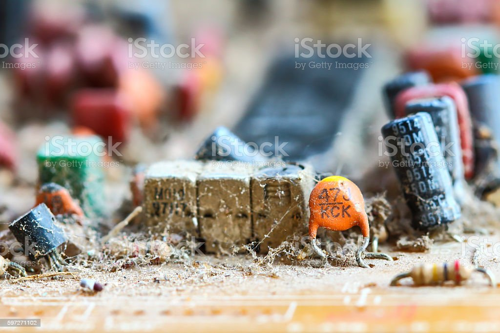 Closeup electronic circuit board royalty-free stock photo