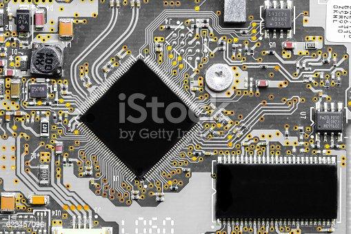 istock Closeup electronic circuit board 623457096