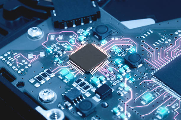 Close-up electronic circuit board. technology style concept. Close-up electronic circuit board. technology style concept. computer chip stock pictures, royalty-free photos & images