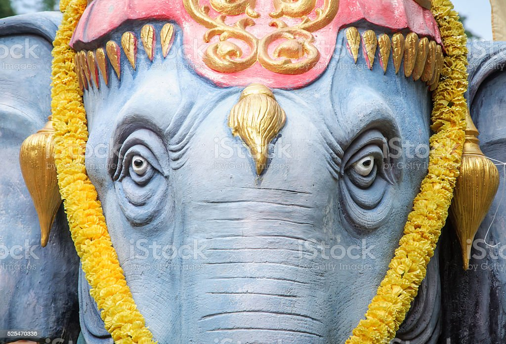 360563ab2e1 Close-up Elephant statue in Thailand. Selective focus on eyes. - Stock  image .