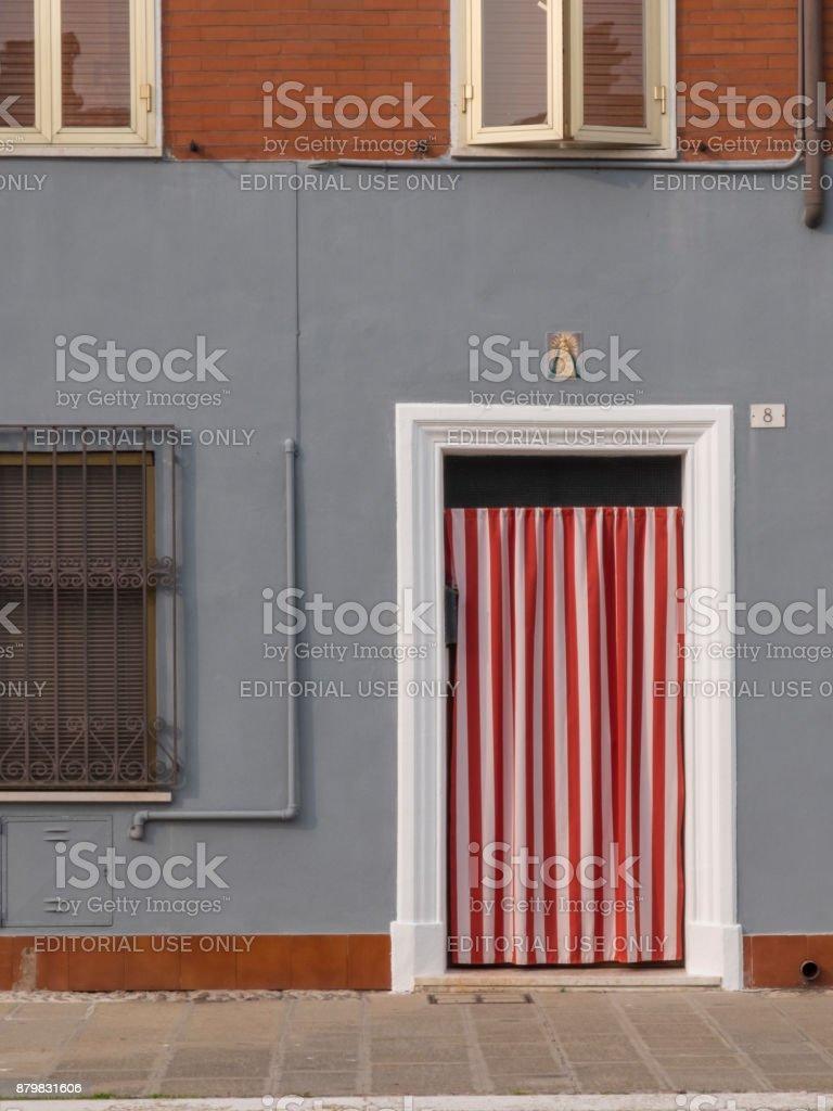 Rideau Porte D Entrée photo libre de droit de gros plan extérieur face À chambre